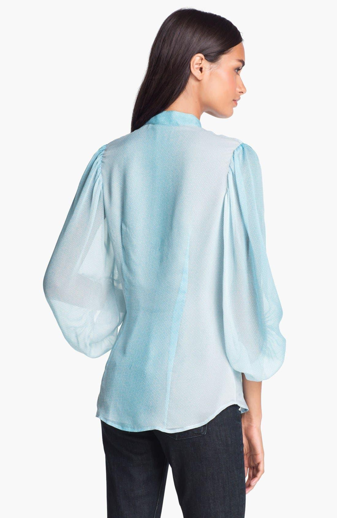 Alternate Image 2  - Diane von Furstenberg 'Syrah' Silk Blouse