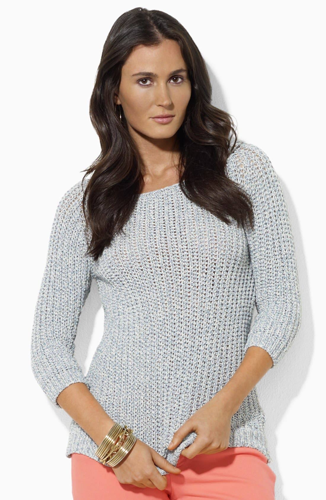 Alternate Image 1 Selected - Lauren Ralph Lauren Bateau Neck Sweater (Petite)