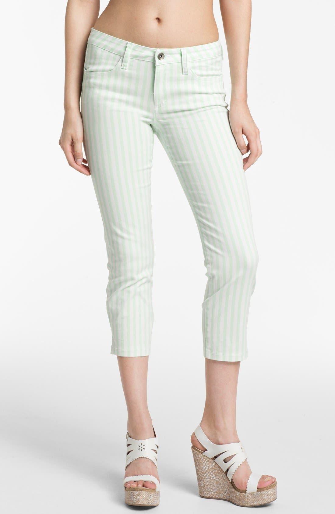 Main Image - Splendid 'Shoreside' Stripe Cropped Skinny Pants