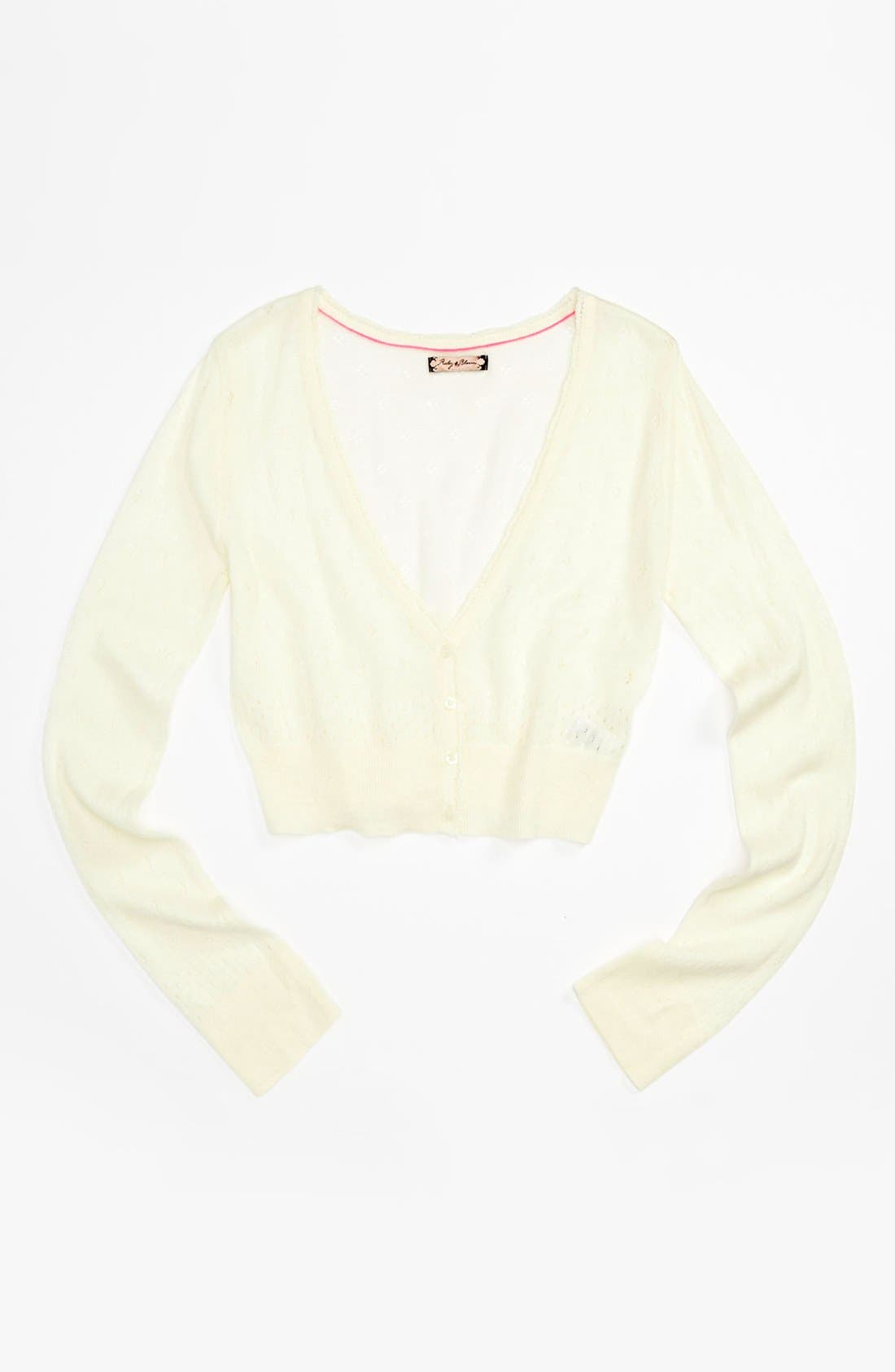 Main Image - Ruby & Bloom 'Dahlia' Cardigan (Big Girls)
