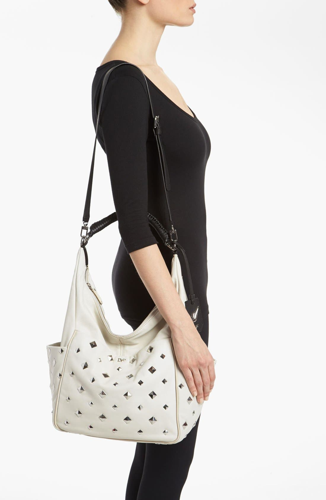 Alternate Image 2  - Diane von Furstenberg 'Franco' Studded Leather Hobo