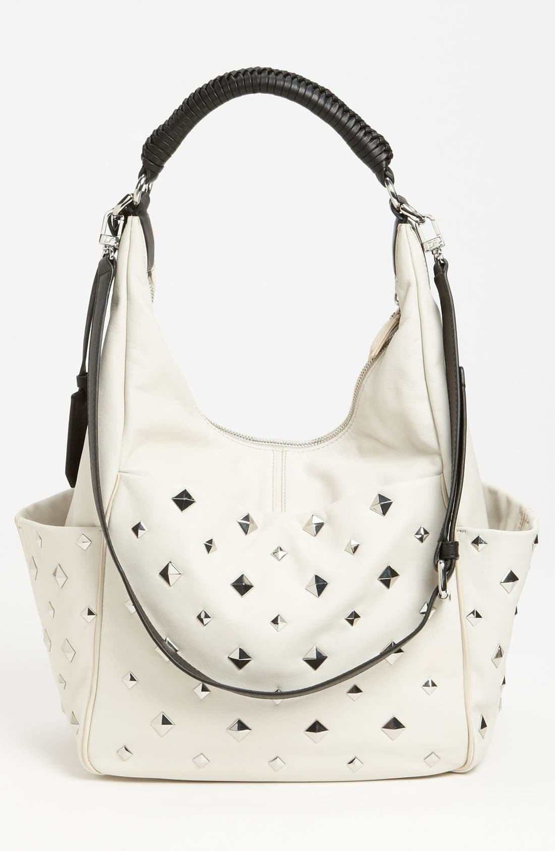 Alternate Image 4  - Diane von Furstenberg 'Franco' Studded Leather Hobo