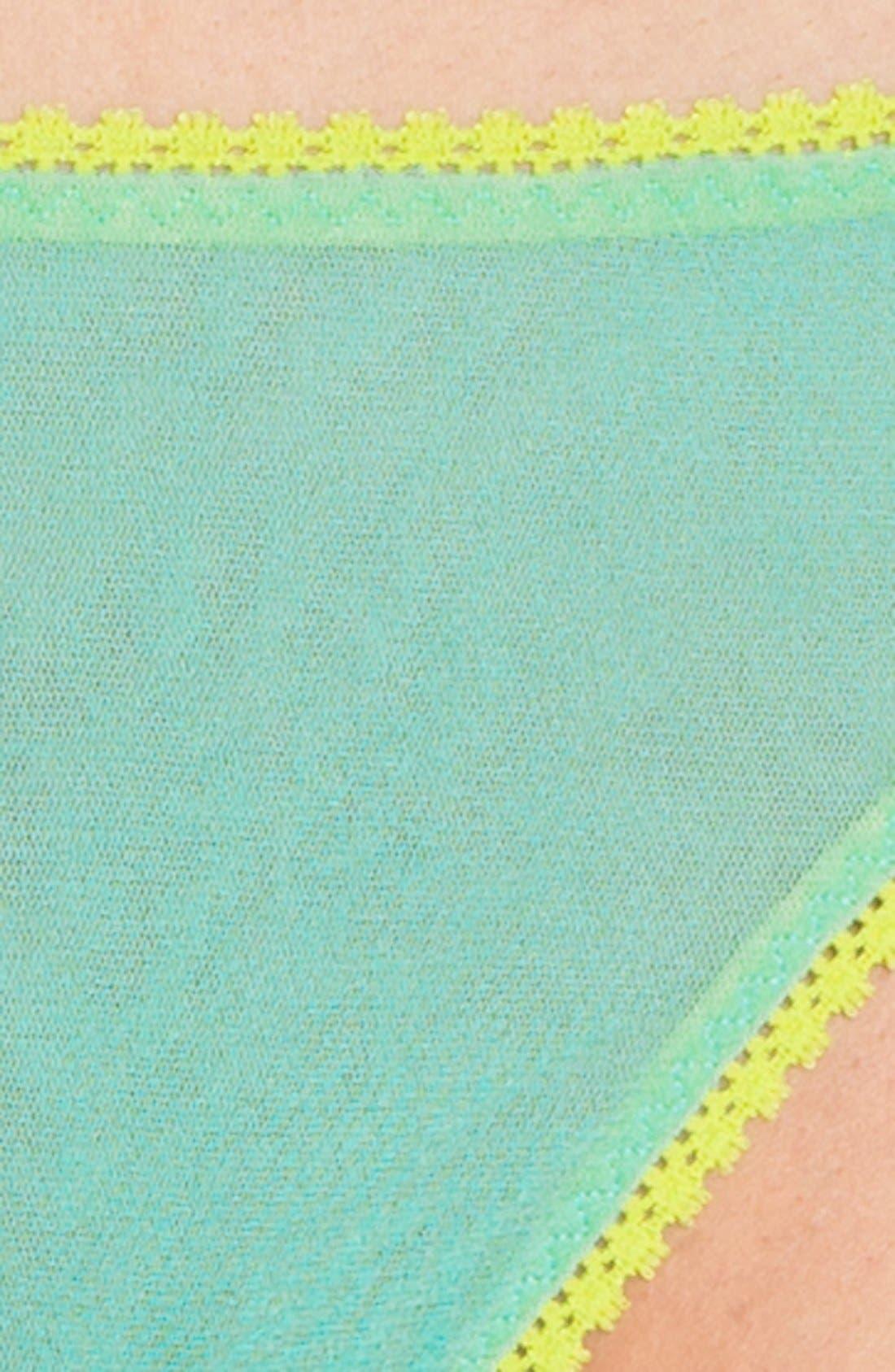 Alternate Image 2  - On Gossamer 'Hip-G' Mesh Thong