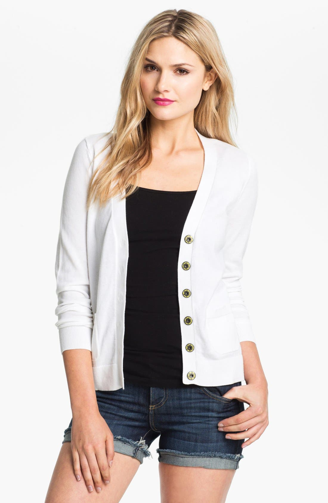 Alternate Image 1 Selected - Caslon® V-Neck Cardigan (Petite)