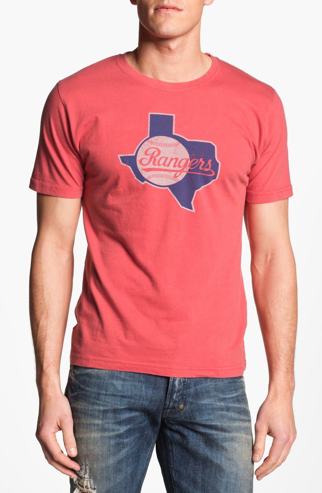'Texas Rangers' T-Shirt,                         Main,                         color, Red
