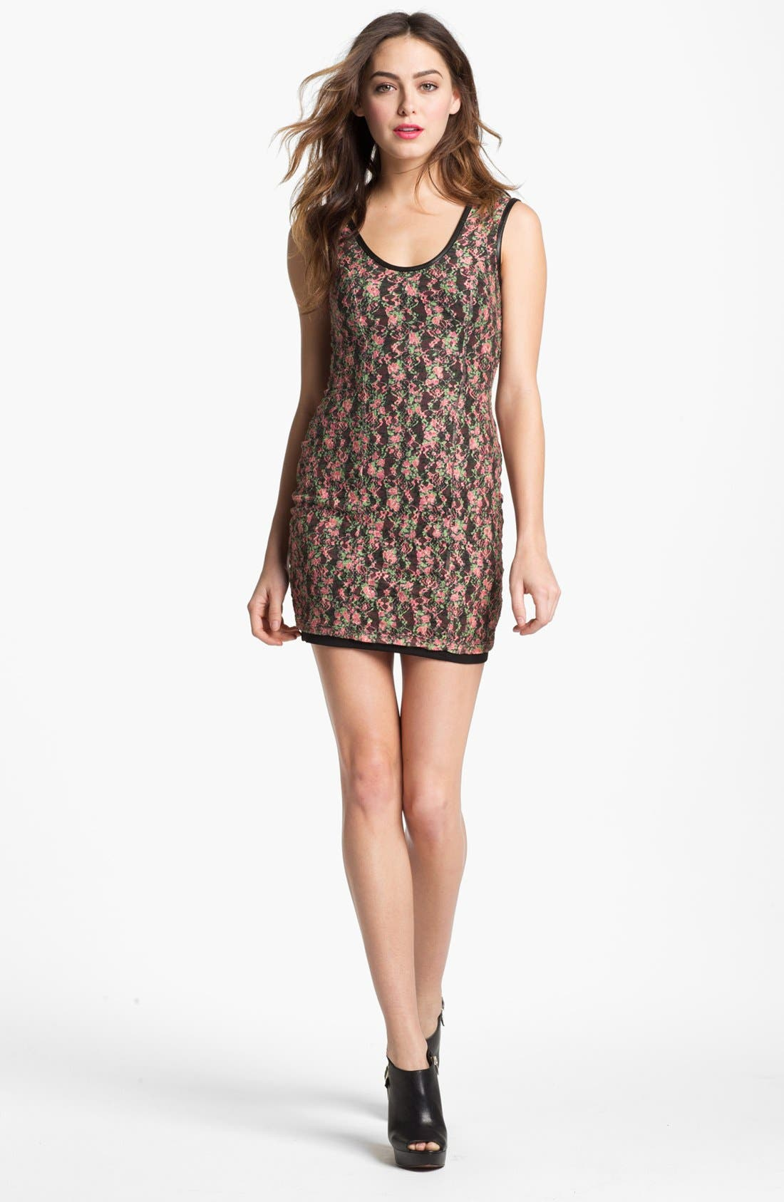 Alternate Image 1 Selected - Lovers + Friends 'Au Natural' Lace Minidress