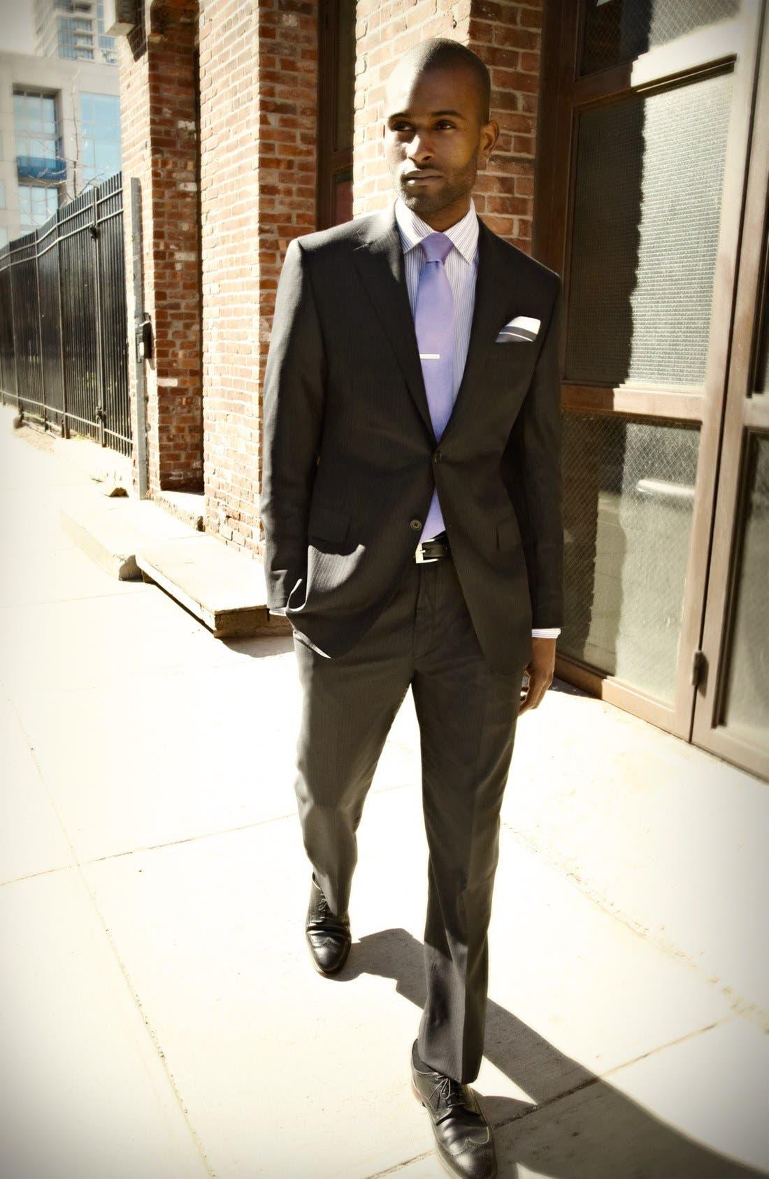 Alternate Image 7  - Hickey Freeman Stripe Wool Blend Suit