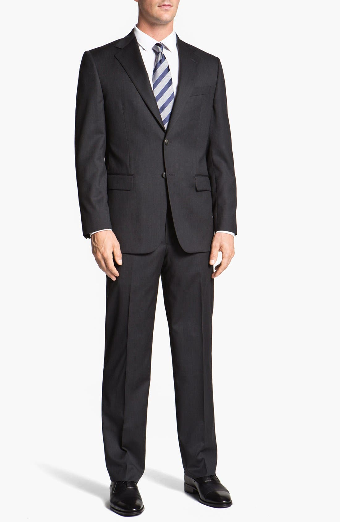 Alternate Image 2  - Joseph Abboud 'Signature Silver' Stripe Wool Suit (Online Only)