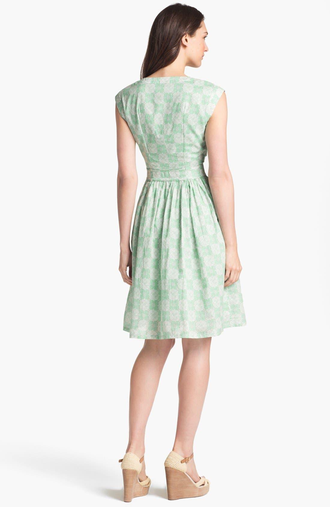 Alternate Image 2  - Tory Burch 'Nico' Cotton Fit & Flare Dress