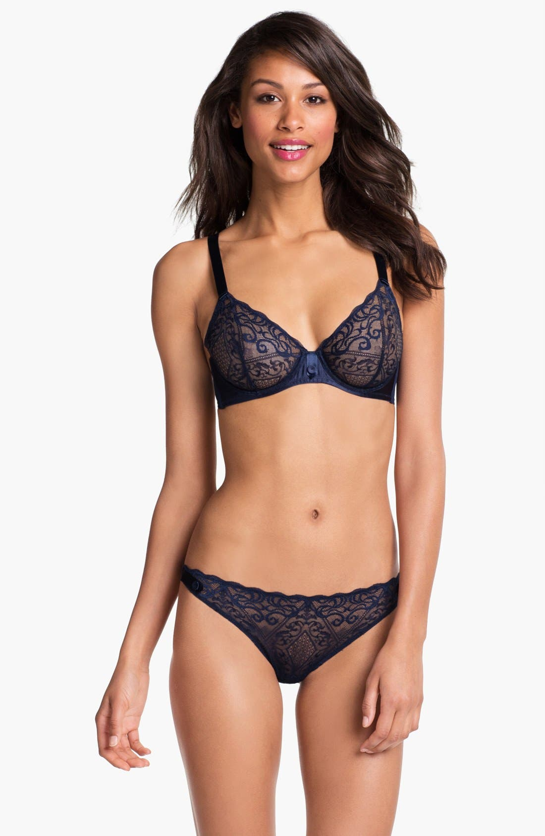 Alternate Image 3  - La Perla Embellished Lace Thong