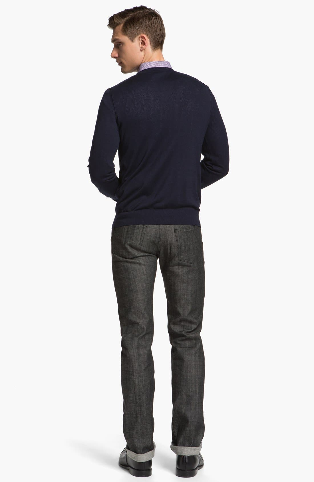 Alternate Image 6  - A.P.C. 'New Standard' Slim Straight Leg Jeans (Black) (Online Only)