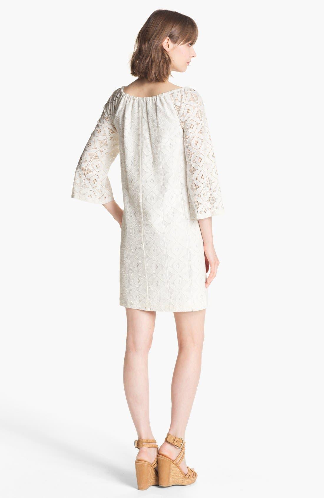 Alternate Image 2  - Trina Turk 'Amplify' Bell Sleeve Lace Shift Dress