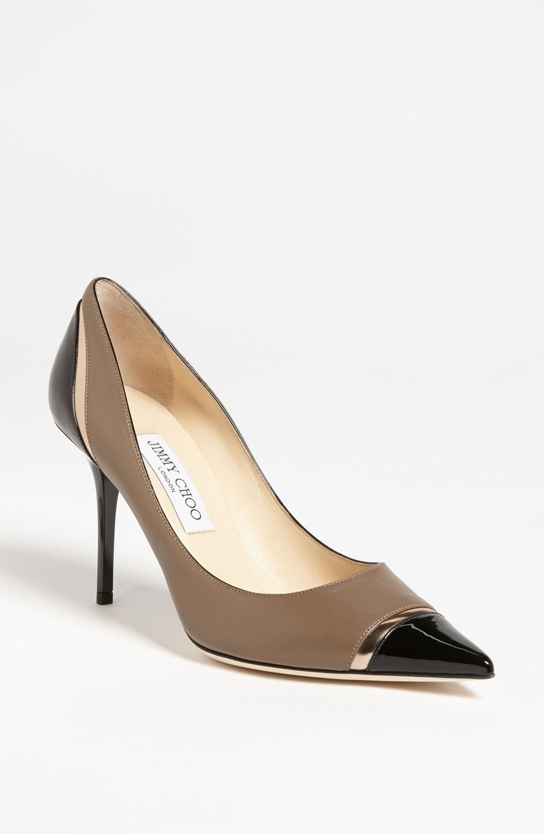 Alternate Image 1 Selected - Jimmy Choo 'Lilo' Cap Toe Pump