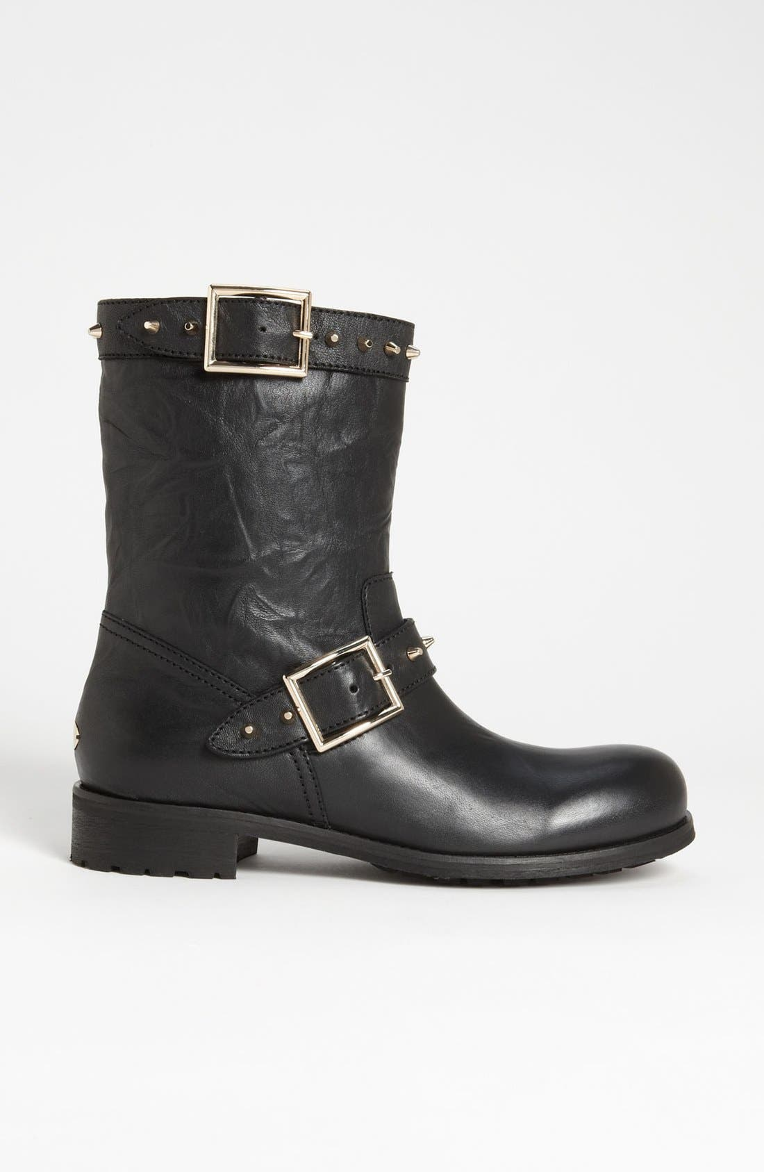 Alternate Image 4  - Jimmy Choo 'Dash' Stud Biker Boot