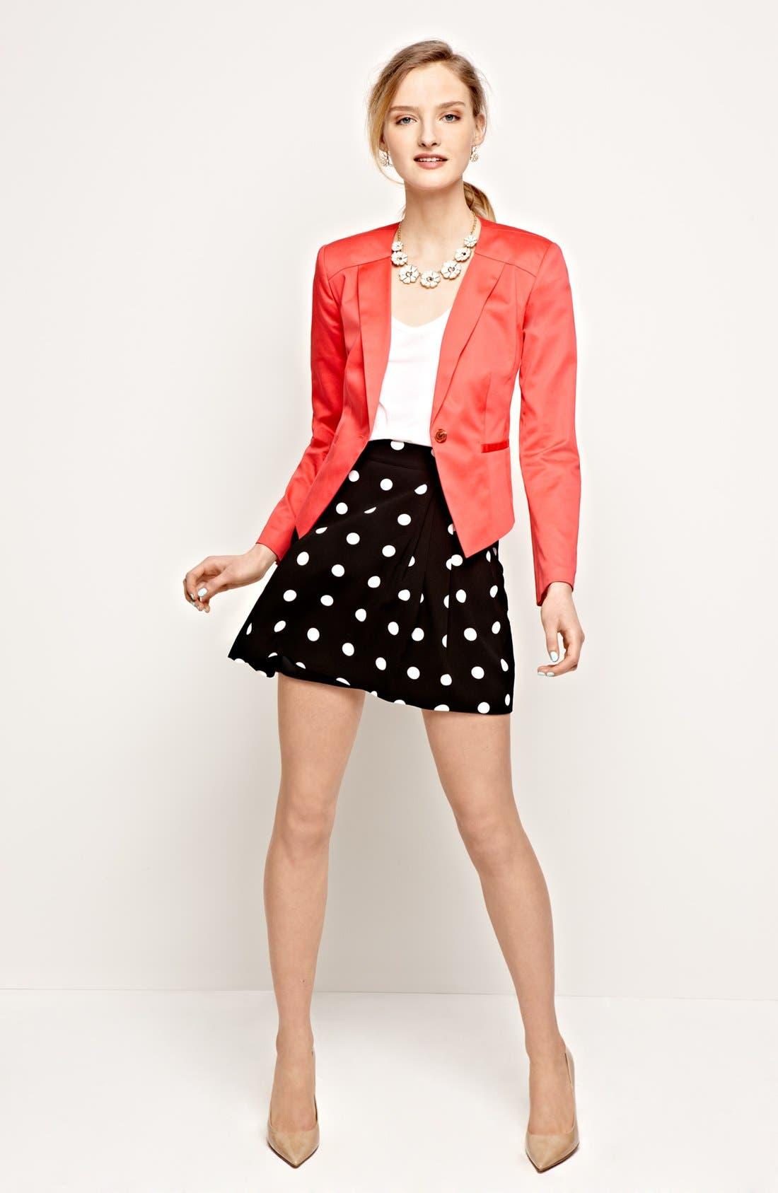 Alternate Image 4  - Halogen®  Blazer & Skirt, Caslon® Tee