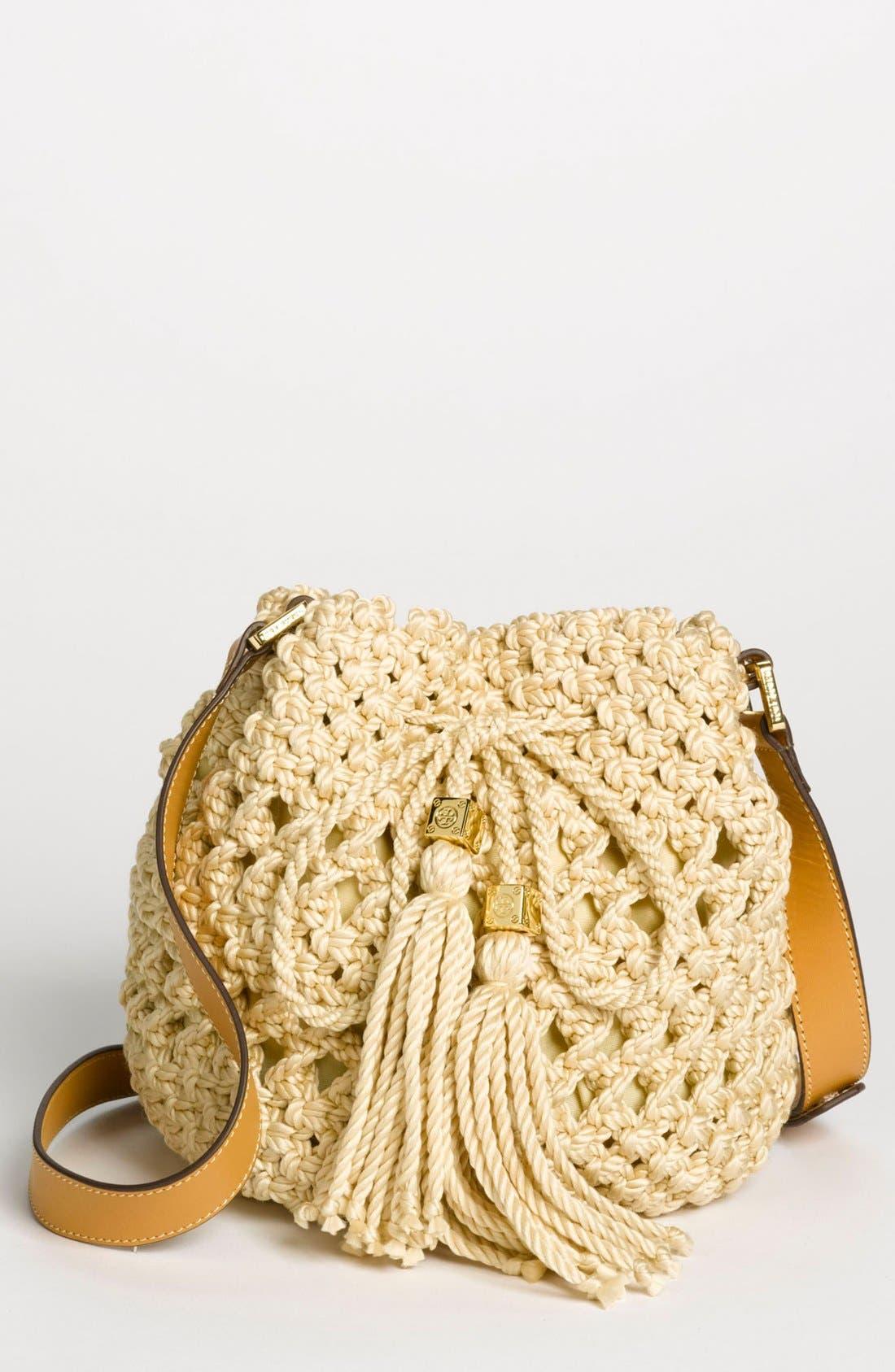 Alternate Image 1 Selected - Tory Burch 'Dawson - Small' Crocheted Bucket Bag