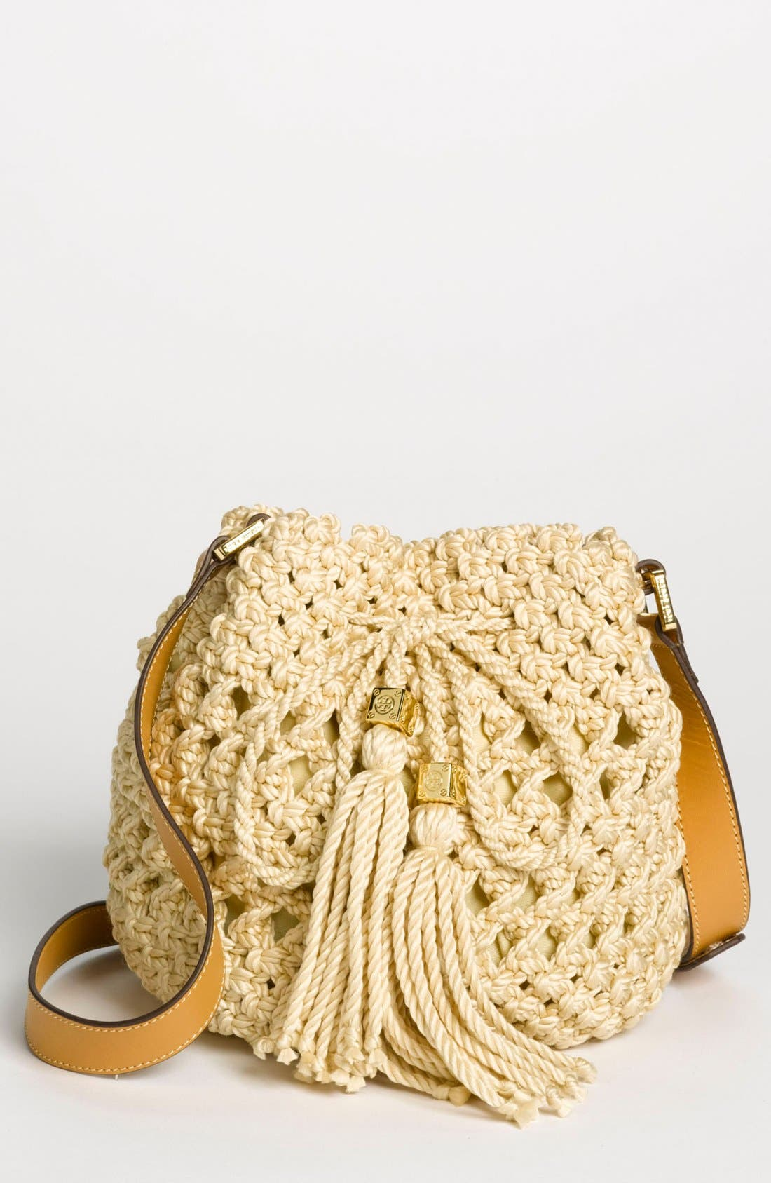 Main Image - Tory Burch 'Dawson - Small' Crocheted Bucket Bag