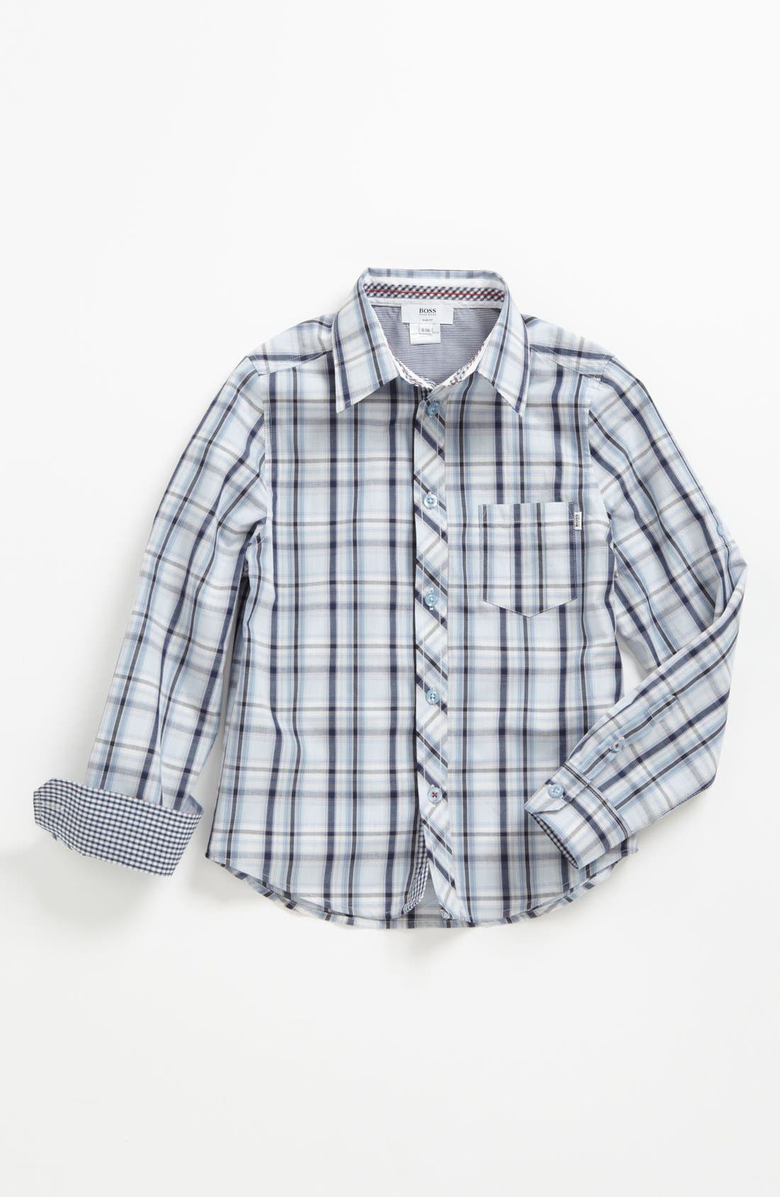 Alternate Image 1 Selected - BOSS Kidswear Check Woven Shirt (Little Boys & Big Boys)