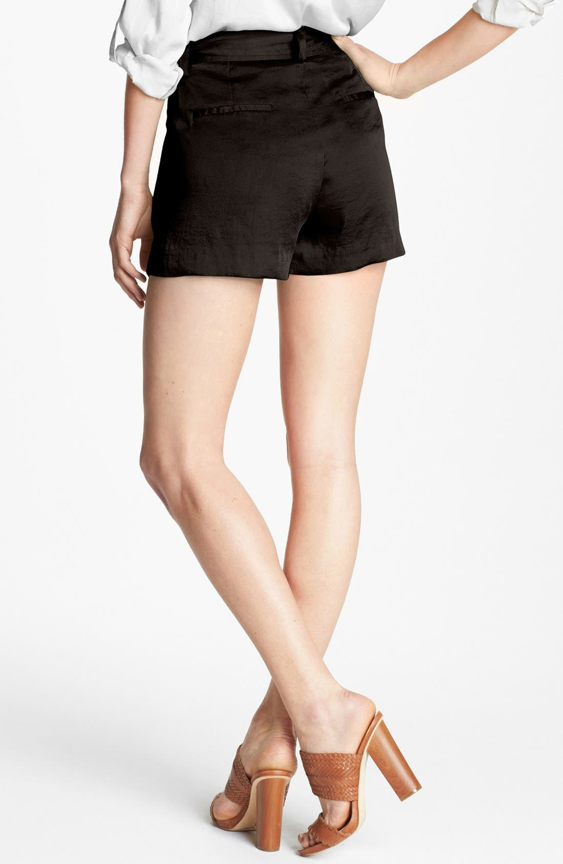 Alternate Image 2  - Vince Camuto Self Tie Pleat Shorts