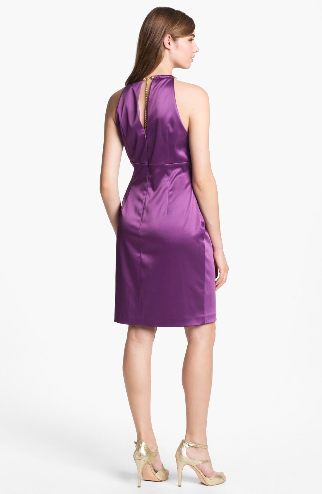 Alternate Image 2  - Eliza J Sleeveless Pleated Sheath Dress