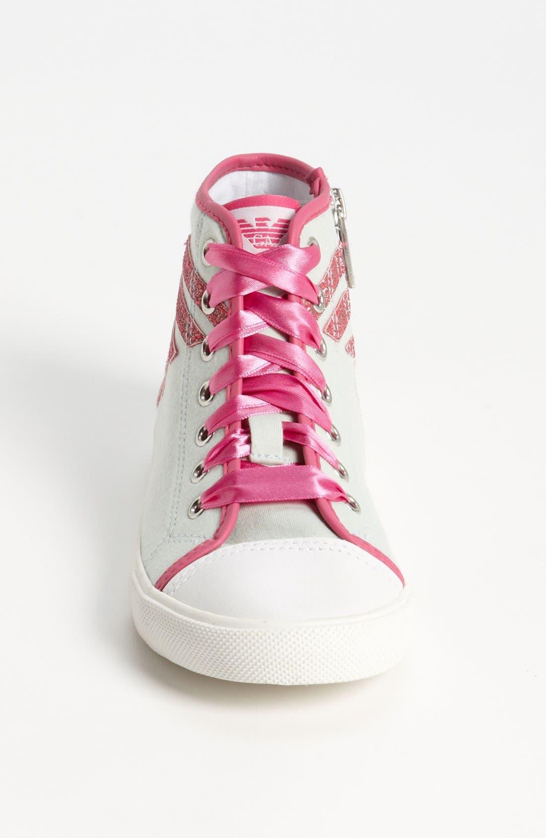 Alternate Image 3  - Armani Junior High Top Sneaker (Toddler, Little Kid & Big Kid)