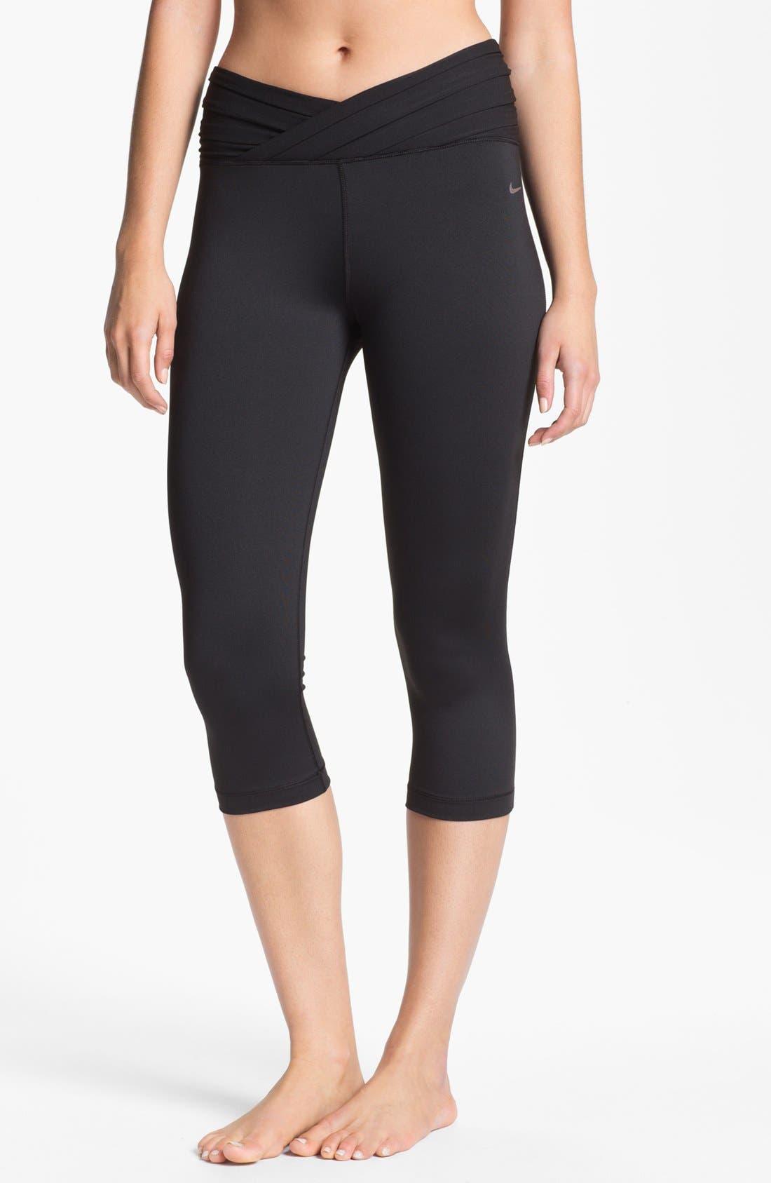 Alternate Image 1 Selected - Nike 'Gym Om' Capri Leggings