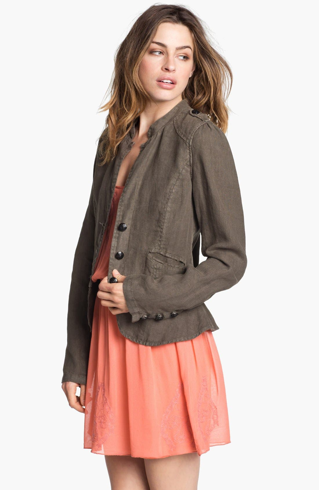Main Image - Sanctuary Linen Peplum Jacket