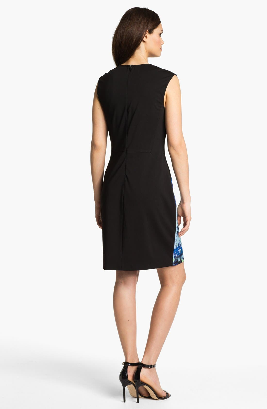 Alternate Image 2  - Suzi Chin for Maggy Boutique Front Print Sheath Dress
