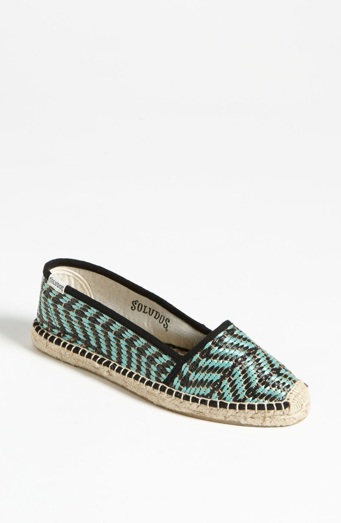 Alternate Image 1 Selected - Soludos 'Raffia' Flat (Women)