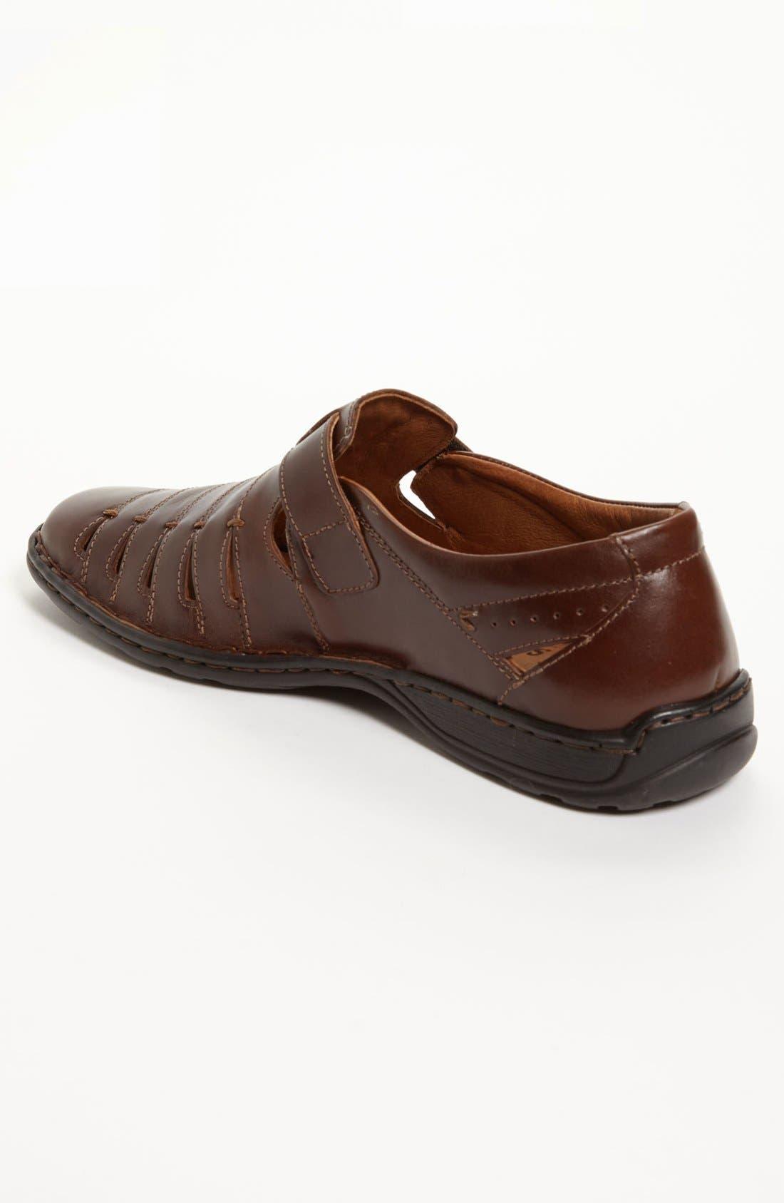 'Lionel 06' Sandal,                             Alternate thumbnail 2, color,                             Brown/ Brown Leather