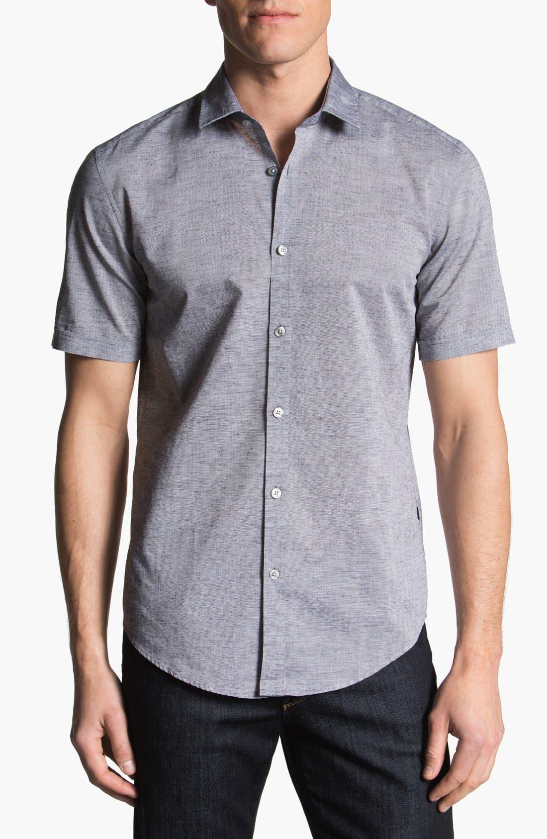 Alternate Image 1 Selected - BOSS HUGO BOSS 'Ring' Short Sleeve Sport Shirt