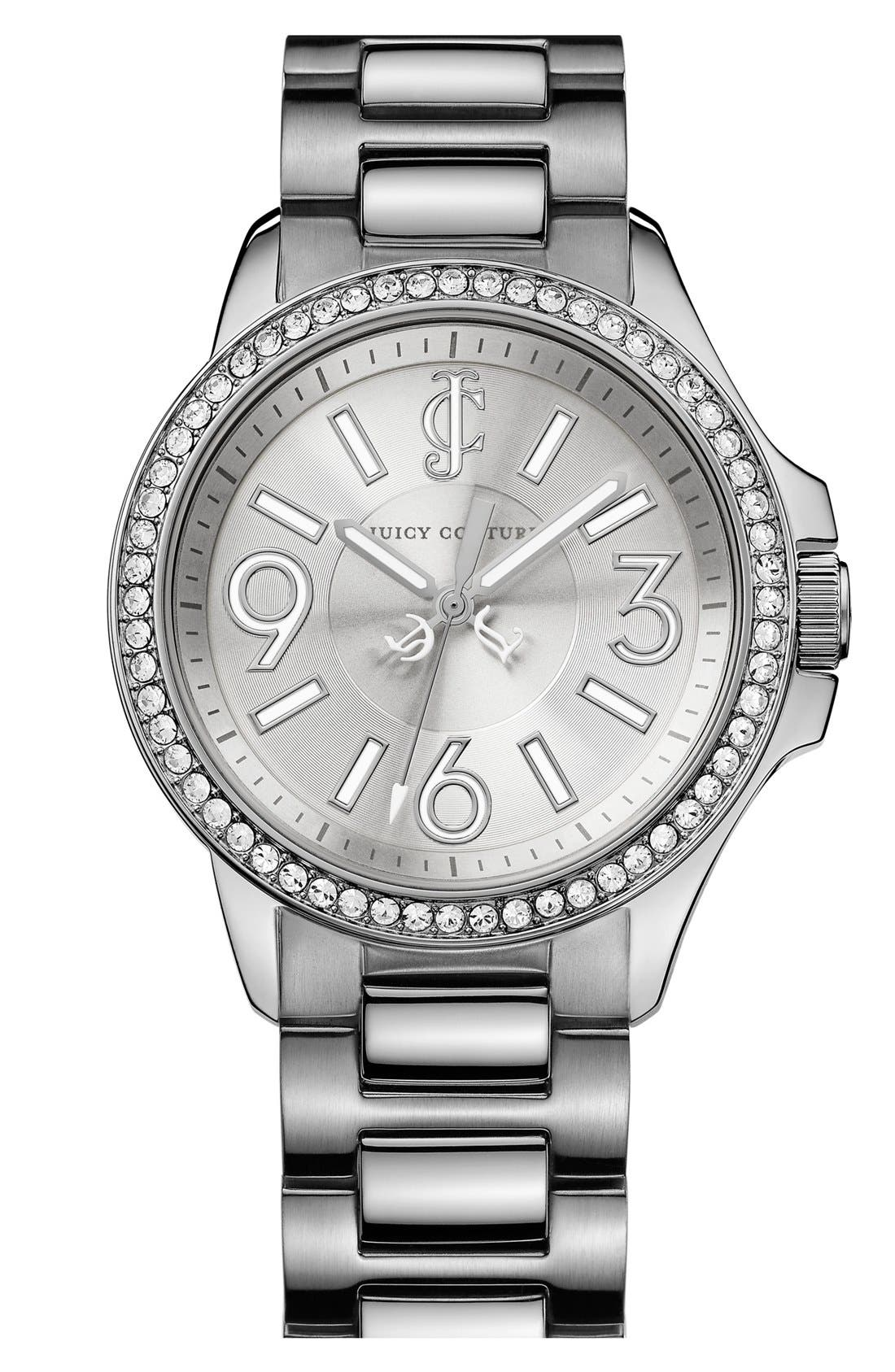 Alternate Image 1 Selected - Juicy Couture 'Jetsetter' Round Bracelet Watch, 38mm