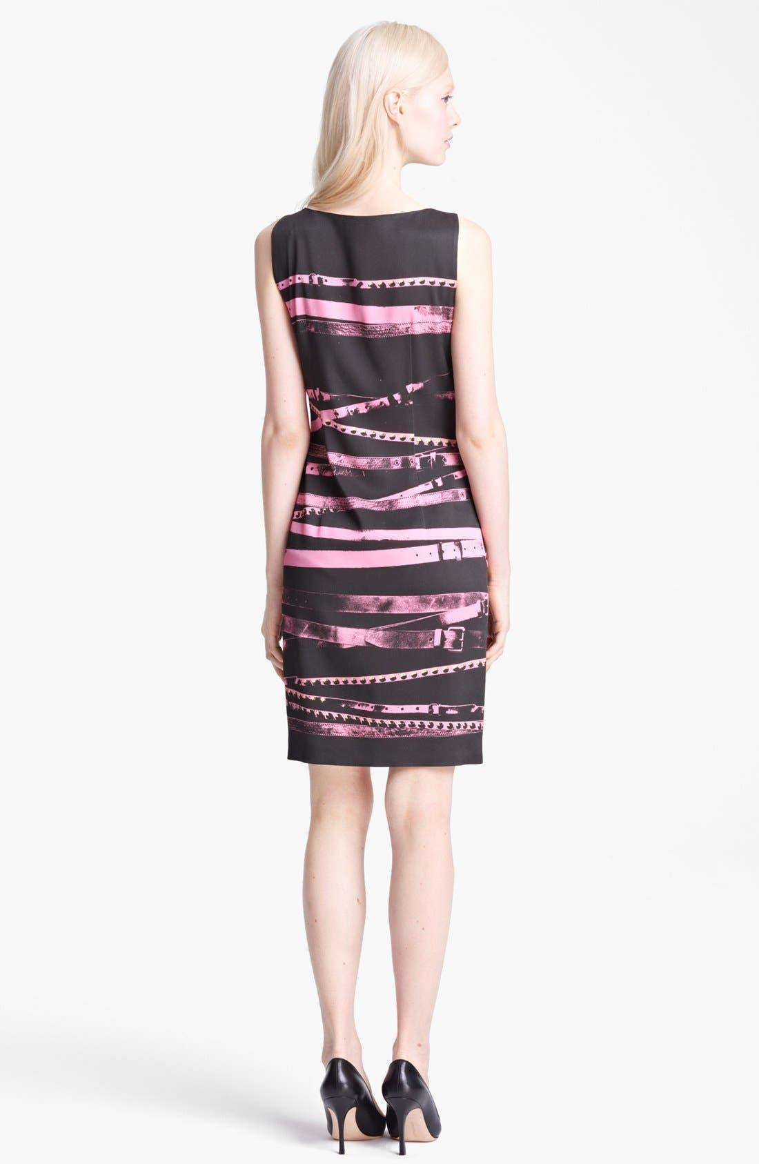 Alternate Image 2  - Moschino Cheap & Chic Sleeveless Belt Print Dress