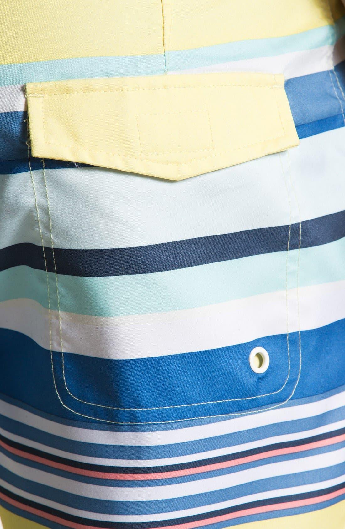 Alternate Image 3  - Original Penguin Stripe Print Swim Shorts