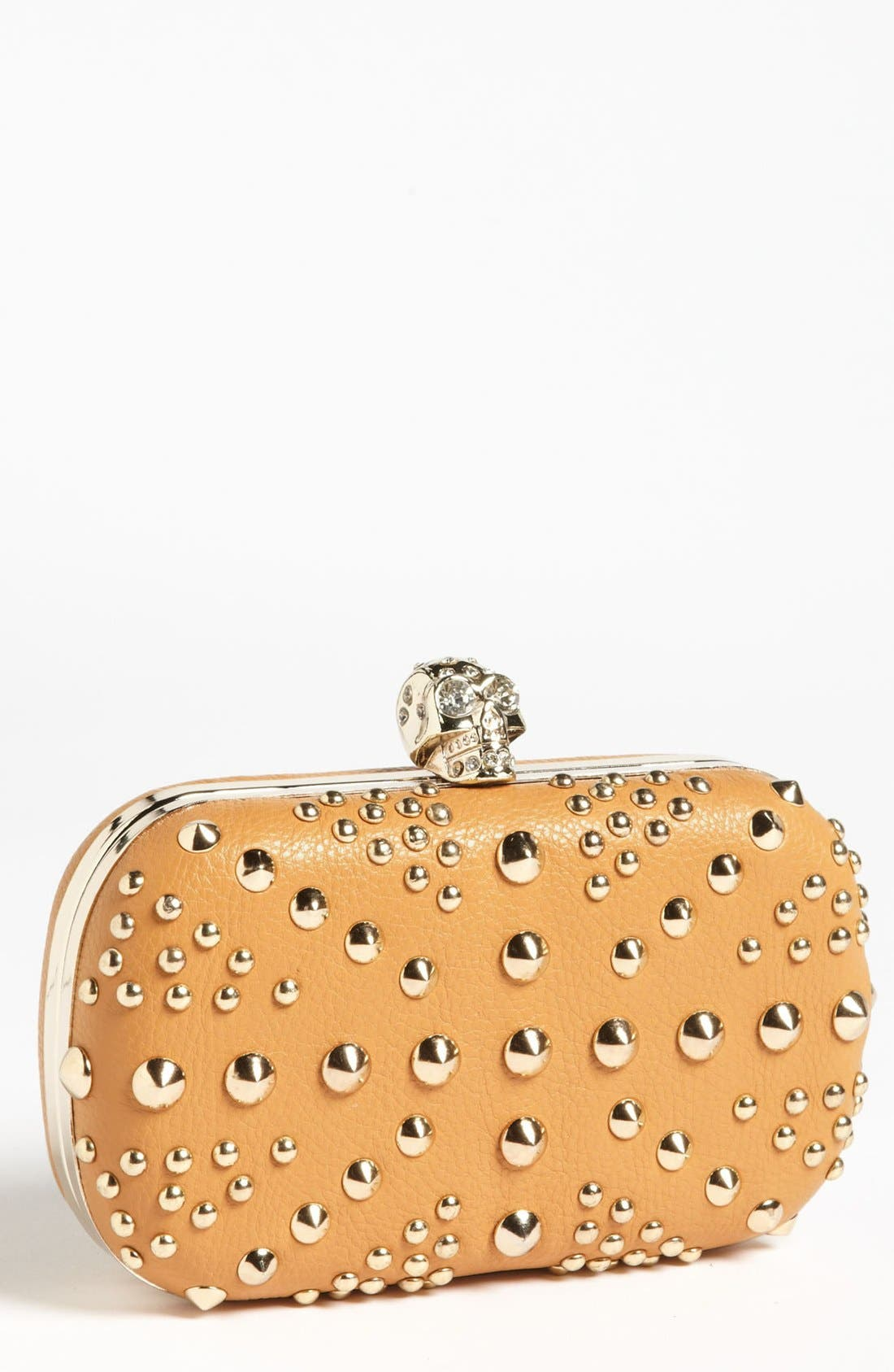 Alternate Image 1 Selected - Cesca Union Jack Stud & Skull Frame Clutch