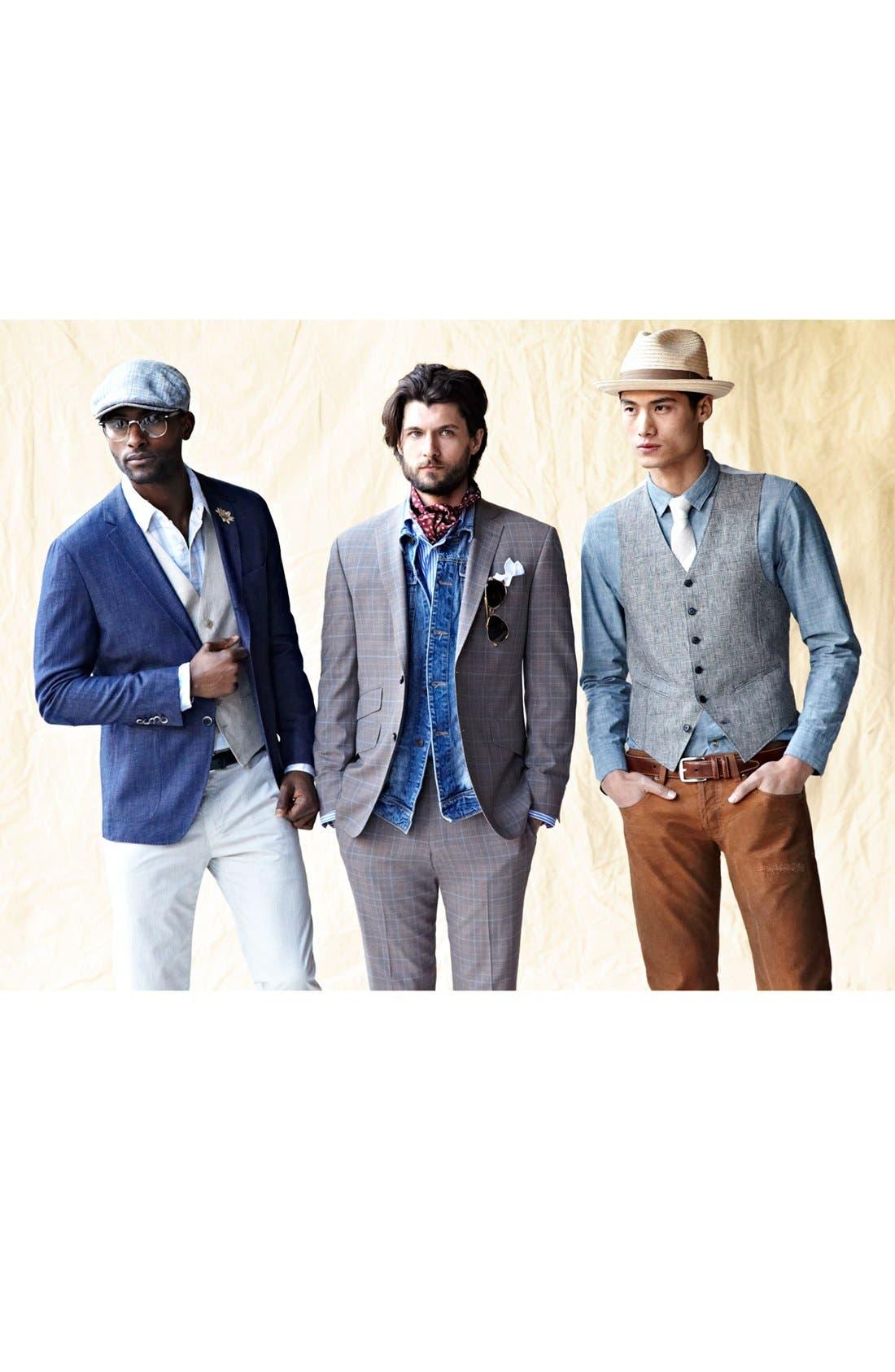 Alternate Image 5  - Nordstrom Men's Shop Cotton Handkerchief (7-Pack)