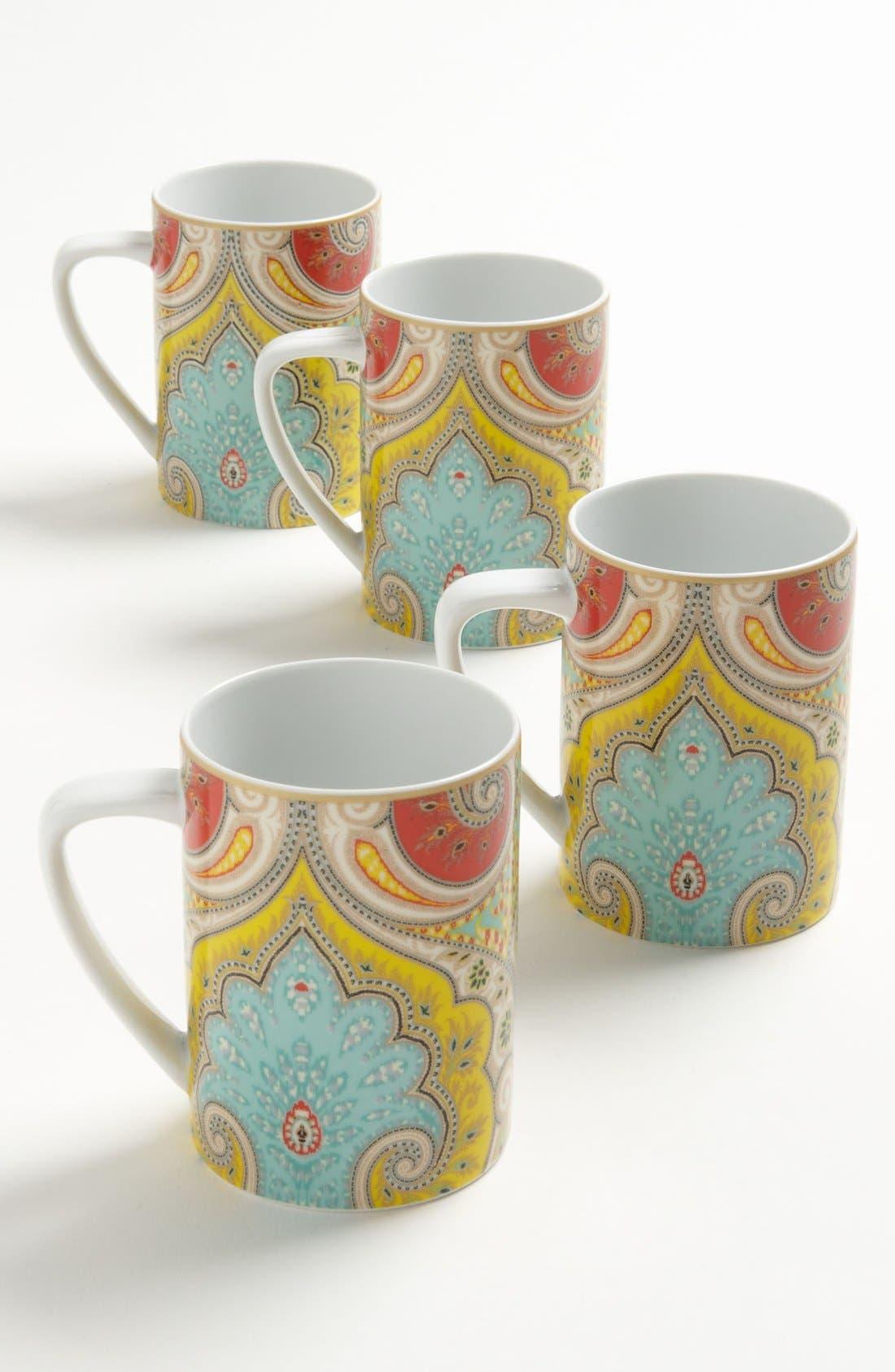 Alternate Image 1 Selected - Echo 'Latika' Paisley Mugs (Set of 4)