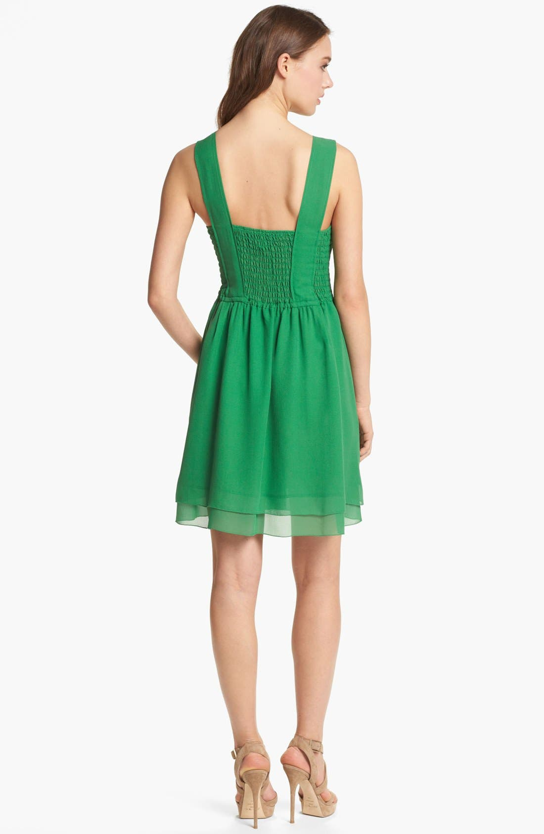 Alternate Image 2  - MARC BY MARC JACOBS 'Crystal Textured' Silk A-Line Dress