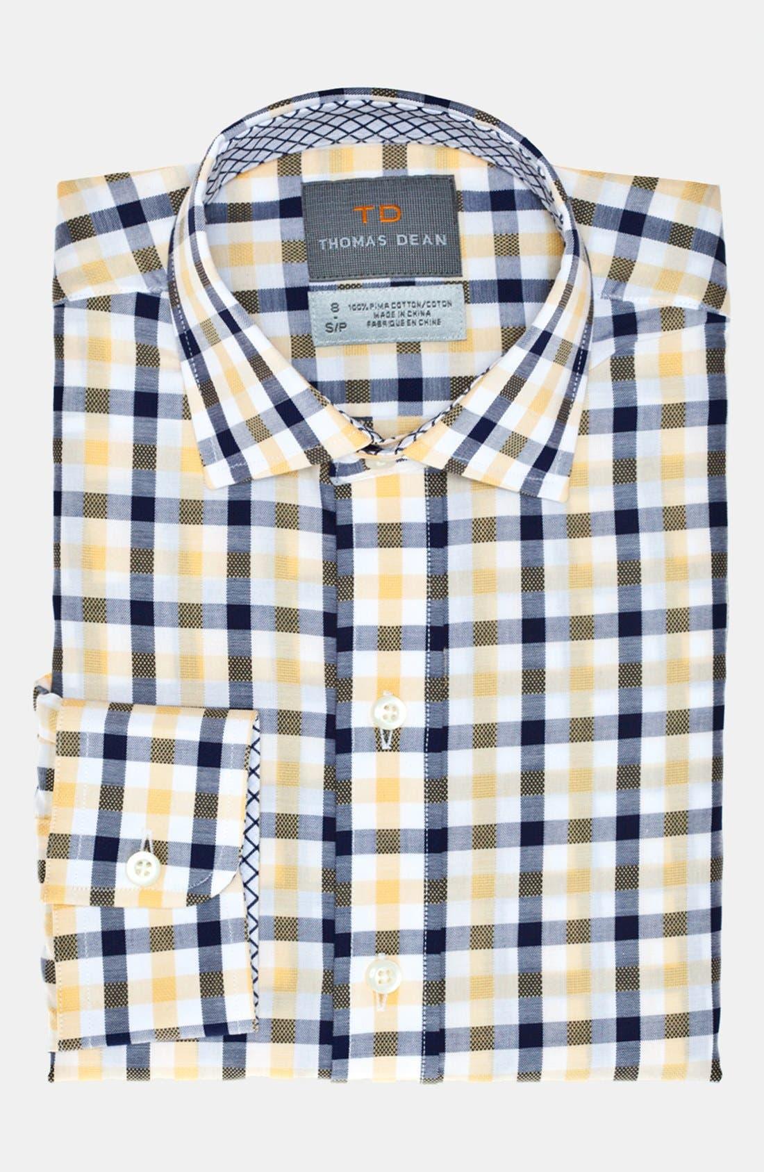 Alternate Image 2  - Thomas Dean Dress Shirt (Little Boys & Big Boys)