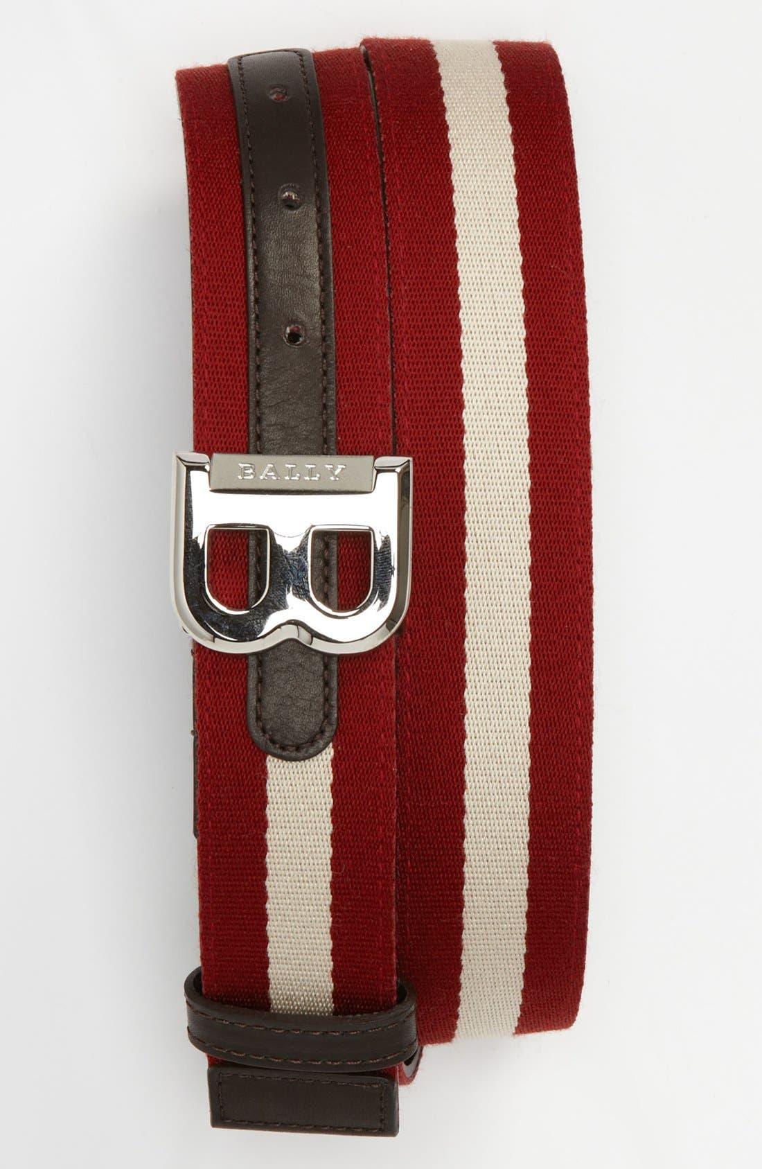 Alternate Image 1 Selected - Bally 'Bising' Stripe Belt (Online Only)