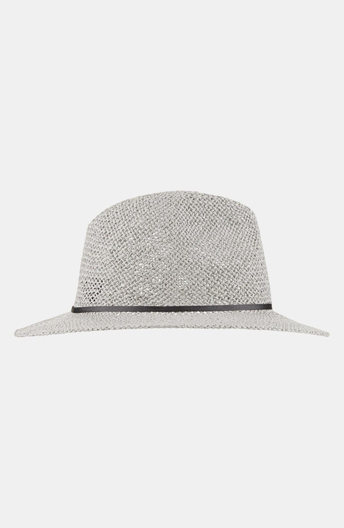 Alternate Image 1 Selected - Topshop Short Brim Straw Fedora