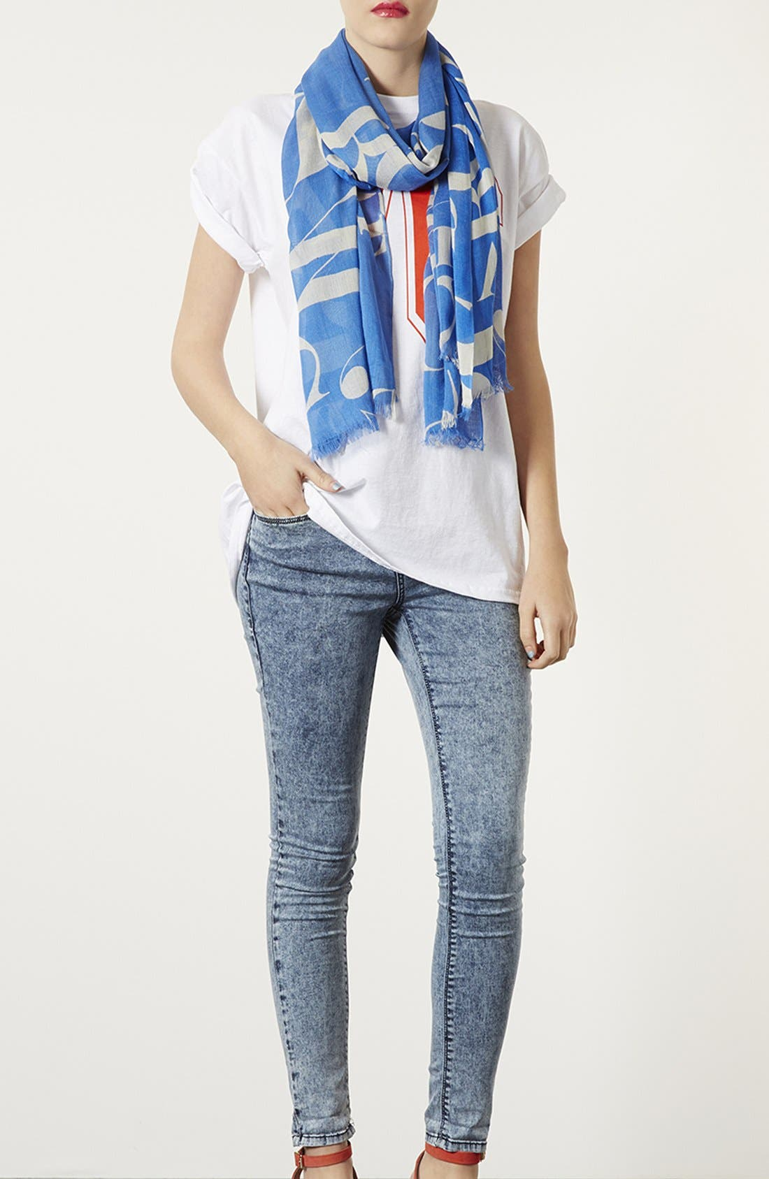 Alternate Image 2  - Topshop 'Abstract Letter' Scarf