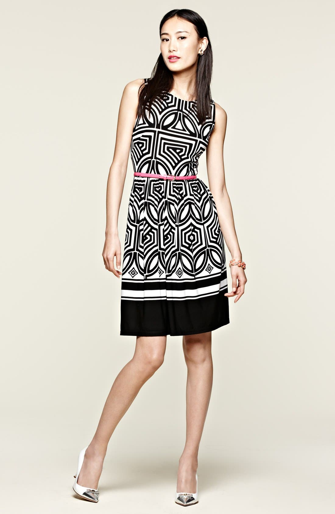 Alternate Image 4  - Eliza J Stretch Fit & Flare Dress