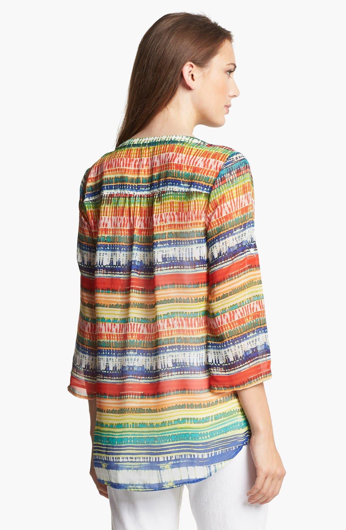 Alternate Image 3  - Chaus Ethnic Stripe Chiffon Blouse