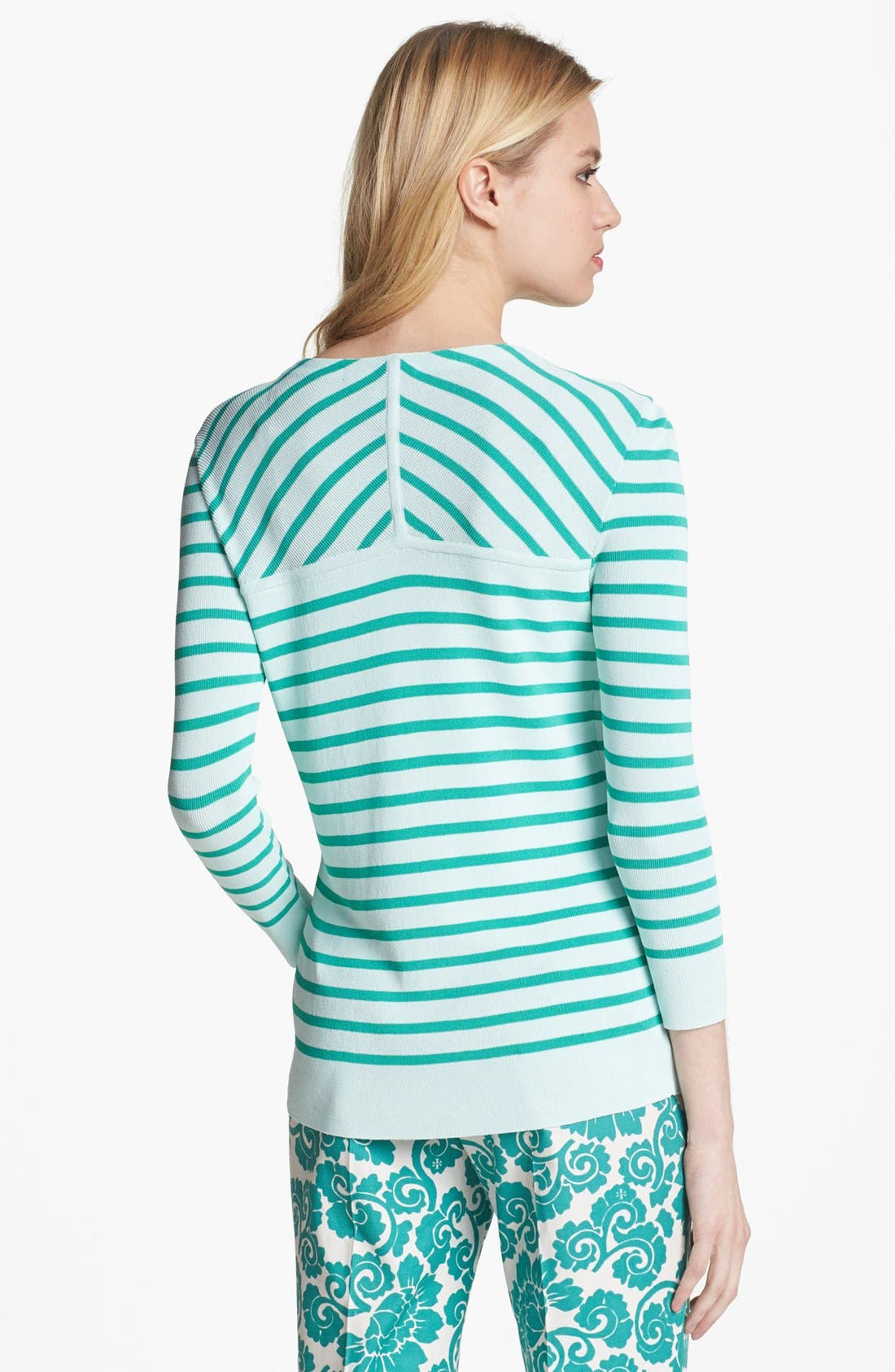 Alternate Image 2  - Tory Burch 'Poling' Stripe Sweater