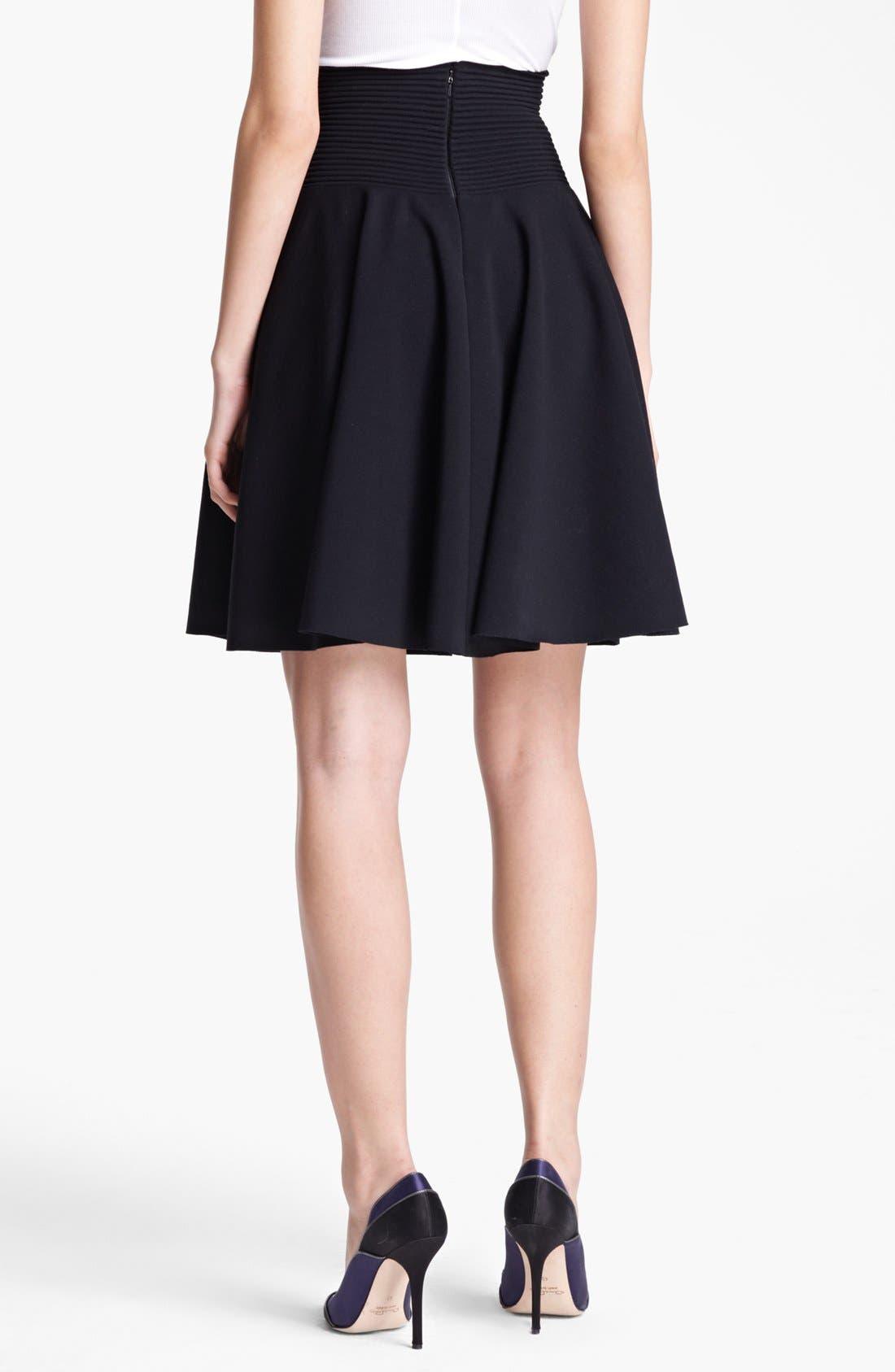 Flared Knit Skirt,                             Alternate thumbnail 2, color,                             Black