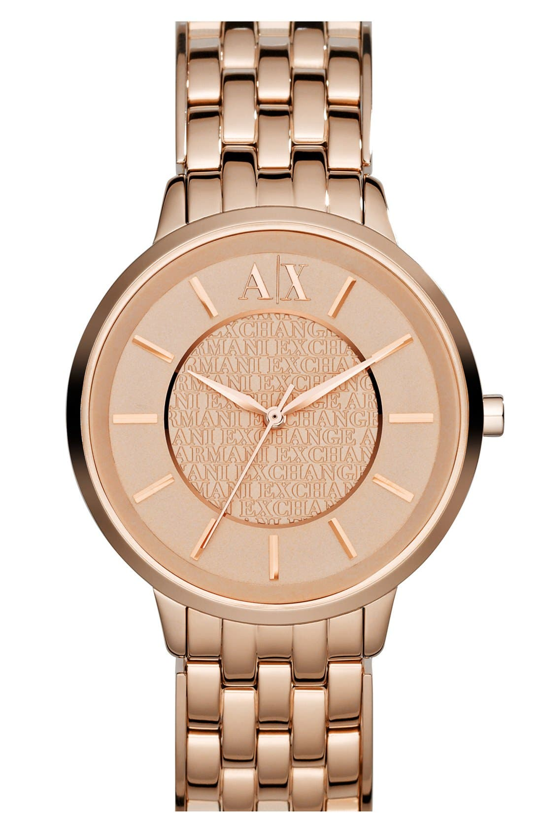 Round Bracelet Watch, 38mm,                             Main thumbnail 1, color,                             Rose Gold