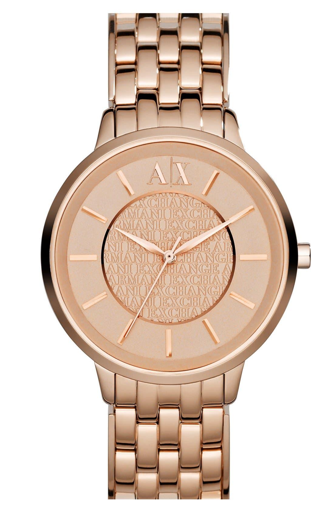 Main Image - AX Armani Exchange Round Bracelet Watch, 38mm