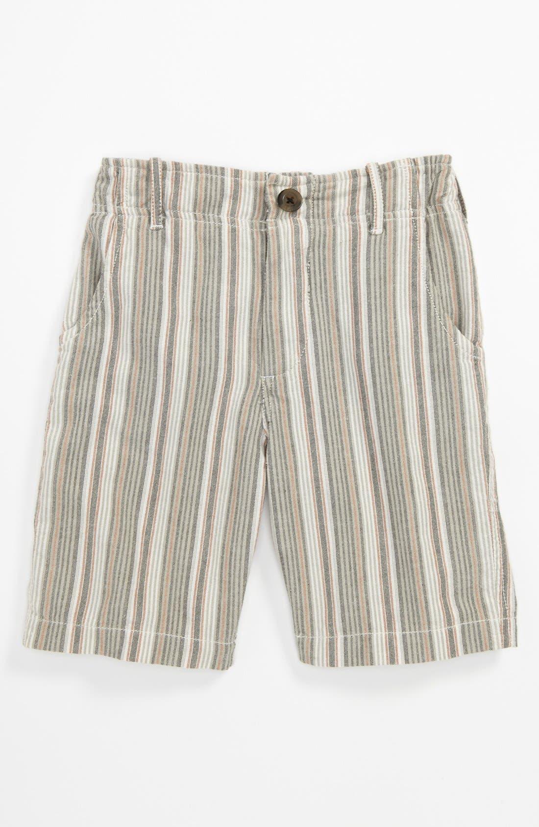 Alternate Image 1 Selected - Peek 'Benito' Stripe Shorts (Big Boys)