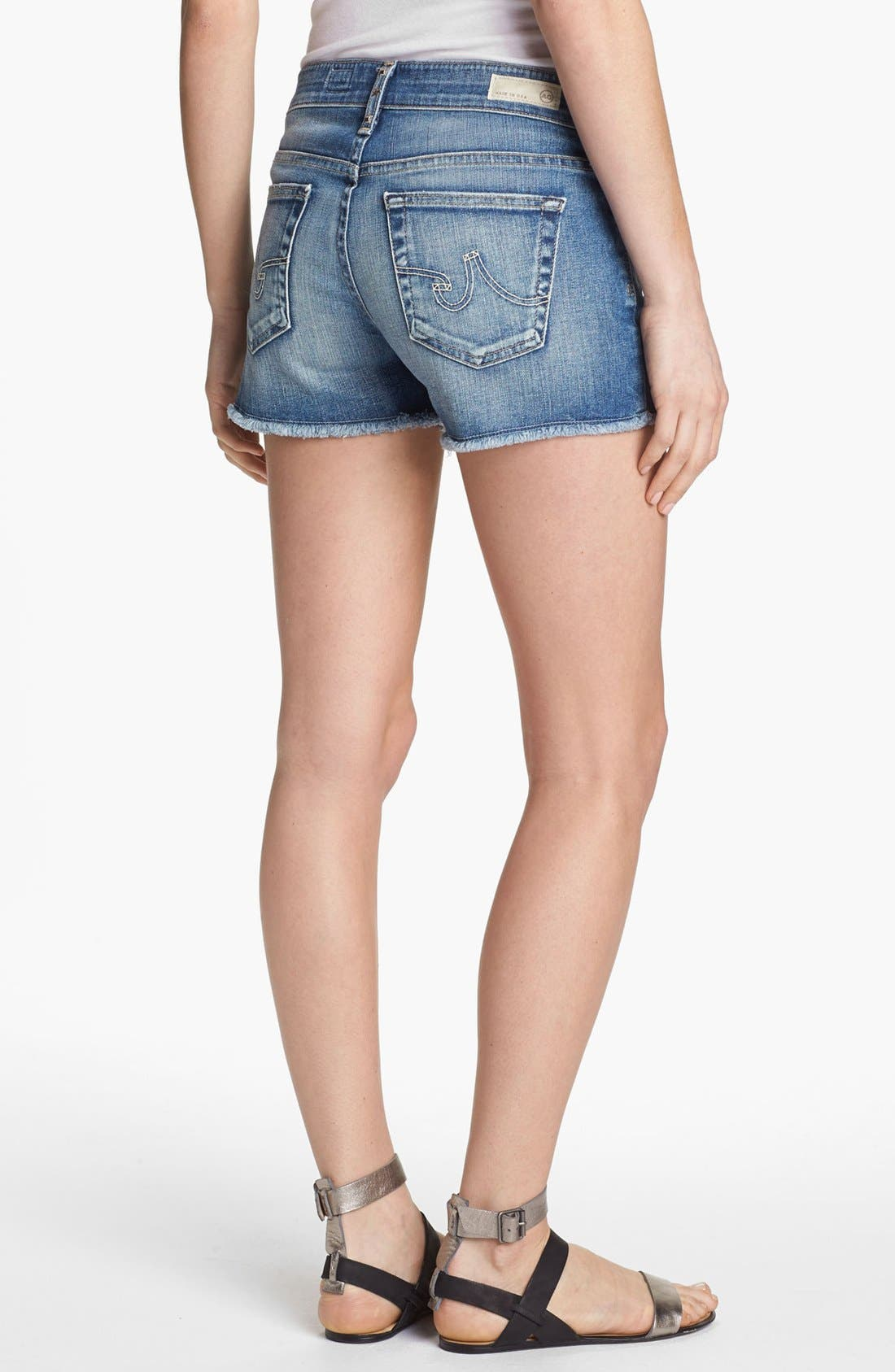 Alternate Image 2  - AG Jeans 'Pixie' Cutoff Denim Shorts (17 Year Studded)